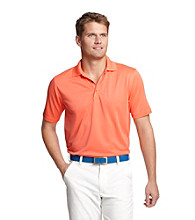 Izod® Men's Living Coral Solid Grid Polo