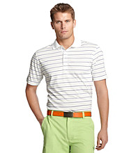 Izod® Men's Bright White Striped Polo