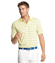 Izod® Men's Yellow Iris Striped Polo