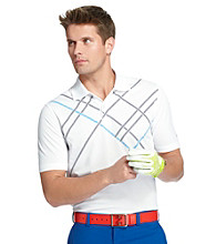 Izod® Men's Cloisonne Blue Geometric Cross Print Polo