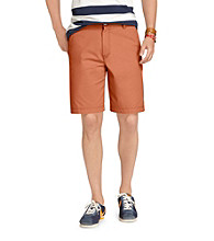 Izod® Men's Living Coral Saltwater Flat Front Shorts
