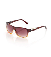 Calvin Klein Men's Brown Copper Wrap Sunglasses