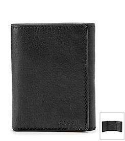 Fossil® Men's Ingram Leather Extra Capacity Trifold Wallet