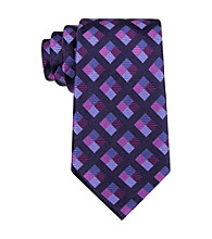 MICHAEL Michael Kors® Men's Navy Piazza Square Pattern Silk Tie
