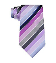 Kenneth Cole REACTION® Men's Purple Step Stripe Silk Tie