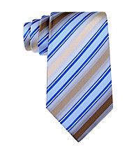 Kenneth Cole REACTION® Men's Taupe Greco Stripe Silk Tie