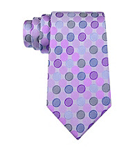 Kenneth Cole REACTION® Men's Purple Stamp Dot Silk Tie