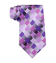 Van Heusen® Men's Purple Modern Geo Silk Tie