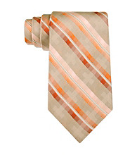 Van Heusen® Men's Orange Mossaic Stripe Silk Tie