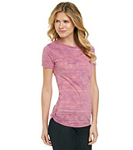 Ruff Hewn Print Burnout Side Scrunch Tee