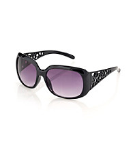 Relativity® Medium Plastic Cut Out Sunglasses - Black