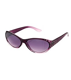 Relativity® Brown Petite Oval Sunglasses