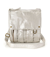 GAL Platinum Lizard Flap Crossbody