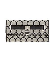 Nine West® 9's Jacquard Checkbook Secretary - Black/Ivory
