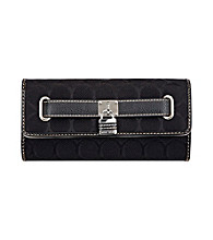 Nine West® 9's Jacquard Checkbook Secretary - Black