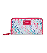Nine West® Pink Multi Can't Stop Shopper Zip Around Wallet