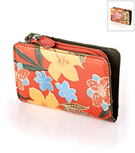 Relativity® Midi Wallet - Orange Tropical Floral