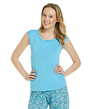 KN Karen Neuburger Knit Sleeveless Top - Le Mer Blue