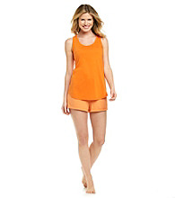 Relativity® Pajama Set - Orange Tonal Stripe