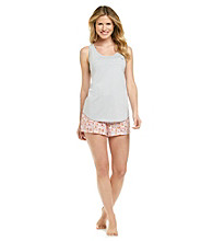 Relativity® Pajama Set - Grey Star Floral