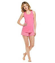 Relativity® Pajama Set - Pink Stripe