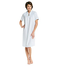 Miss Elaine® French Terry Short Zip Robe