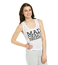 Steve Madden Mad Crazy Dreams Knit Tank - White