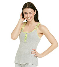 Steve Madden Thermal Strappy Tank - Heather Grey