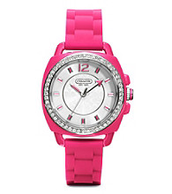 COACH PINK BOYFRIEND SILICON RUBBER STRAP WATCH