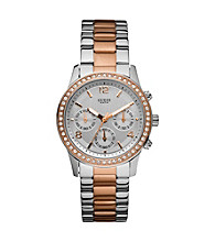Guess Two Tone Feminine Contemporary Chronograph Watch