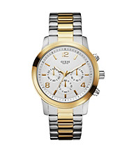 Guess Two Tone Bold Contemporary Chronograpgh Watch