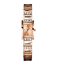 Guess Rose Goldtone G Iconic Sophistication Watch