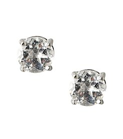 Designs by FMC Sterling Silver 2 ct. tw. White Topaz 6MM Stud Earrings
