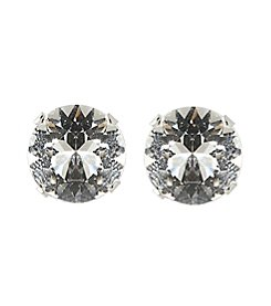 Designs by FMC Sterling Silver 8MM Clear Swarovski® Elements Stud Earrings