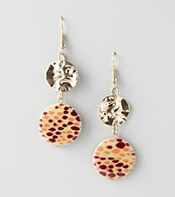 Erica Lyons® Sahara Brown Multi Double Drop Pierced Earrings