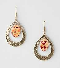 Erica Lyons® Sahara Brown Multi Drop Pierced Earrings