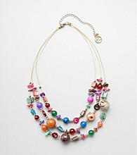 Erica Lyons® Goldtone Carnival Short Illusion Necklace