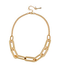 Kenneth Cole® Goldtone Oval Link Frontal Necklace