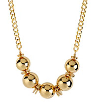 Kenneth Cole® Goldtone Round Bead Frontal Necklace