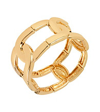 Kenneth Cole® Goldtone Oval Link Stretch Bracelet