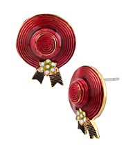 Betsey Johnson® Pink Hat Stud Earrings