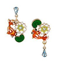 Betsey Johnson® Multi Colored Koi Fish Stud Earrings
