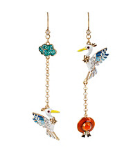 Betsey Johnson® Multi Colored Pelican Mismatch Earrings