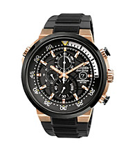 Citizen® Rose Goldtone and Black Men's Endeavor Eco-Drive Watch