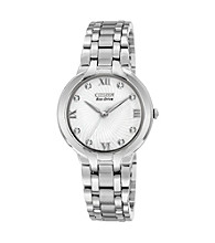 Citizen® Silvetone with Diamond Women's Bella Eco-Drive Watch