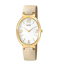 Citizen® Goldtone and Ivory Women's Allura Eco-Drive Watch