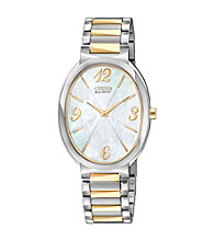 Citizen® Two Tone with Mother-of-Pearl Dial Women's Allura Eco-Drive Watch