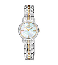 Citizen® Two Tone with Mother-of-Pearl Dial Women's' Silhouette Eco-Drive Watch