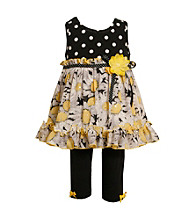 Bonnie Jean® Baby Girls' Black/Yellow Daisy Leggings Set