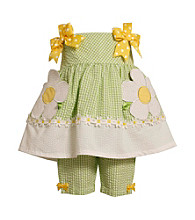 Bonnie Jean® Baby Girls' Green/White Gingham Capri Set